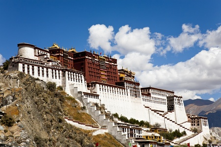 Potala Palace at Lhasa, Tibet, China. Editorial