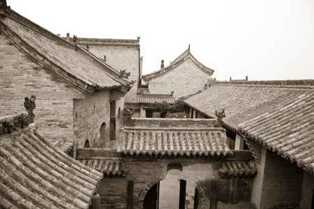 chinese courtyard: Ancient Chinese building at Wang