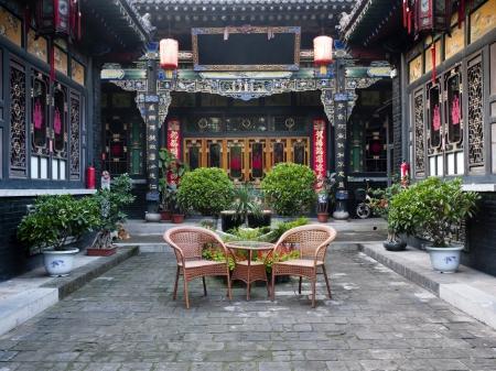 伝統的な中国の建築の古い化合物、チェン
