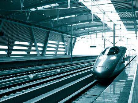 高速列車駅、北京南駅、中国で停止