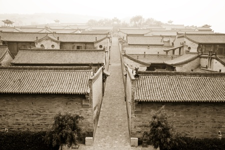 chinese courtyard: Ancient Chiese architecture, toned color