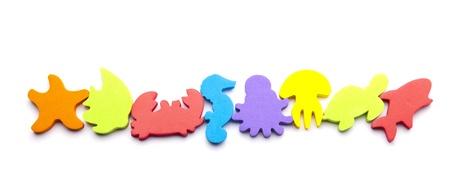 toy fish: Sea animals border