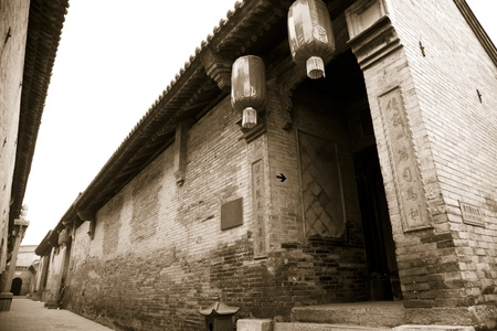 Traditional Chinese Building of old compound, Shanxi Province, China