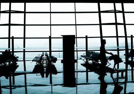 Airport terminal departure area, Beijing International Airport, China