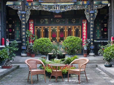 chinese courtyard: Traditional Chinese Building of old compound, Cheng Jia, Shanxi Province, China