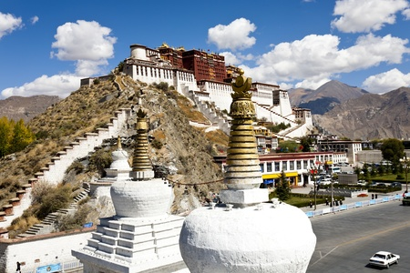 ラサ、チベット、中国ポタラ宮。