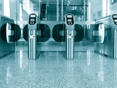 automate: ticket gate at Beijing Southen Railway Station, China