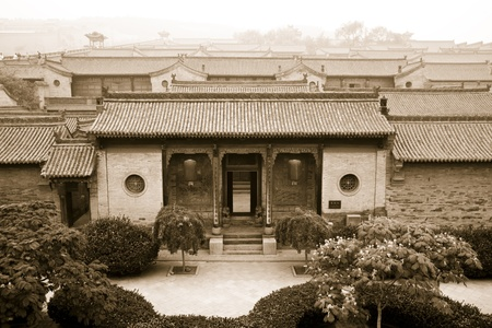 chinese courtyard: Traditional Chinese Building of old compound, Shanxi Province, China Editorial