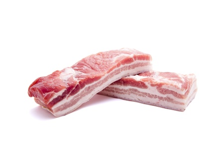 uncooked bacon: Pork belly