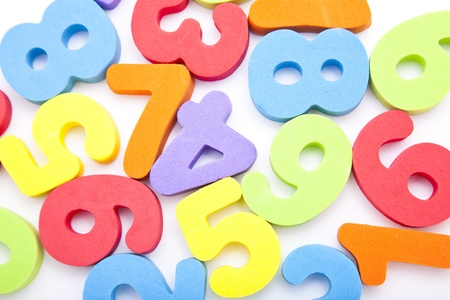 numbers background: Toy numbers background Stock Photo