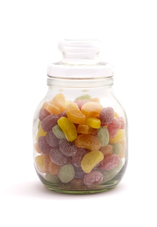 sours: Fruit candies in a gar Stock Photo