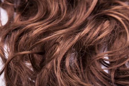 hair part: Brown hair