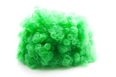 Green curly wig  Stock Photo - 12868733