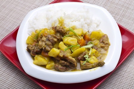 Curry beef and vegetable photo