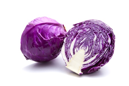 leaf vegetable: red cabbage Stock Photo