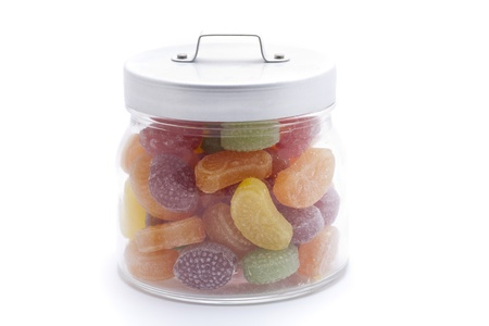 sours: Colorful sugar in a glass jar