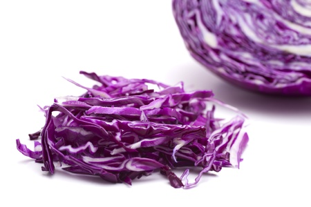 red cabbage: Shredded red cabbage Stock Photo