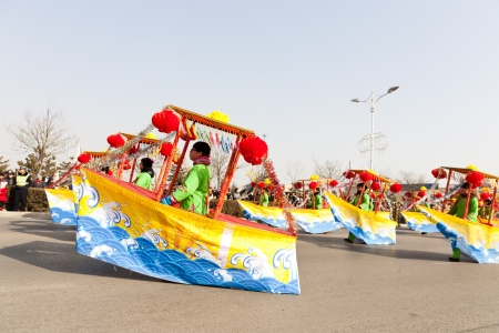 hebei province: Yu County, Hebei province, China - February 5th, 2012: Chinese people celebrated the Spring Festival. The celebration activities are extremely rich and varied.