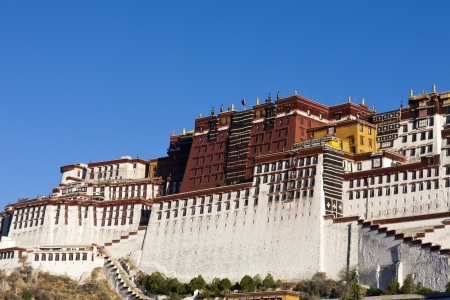 fled: The Potala Palace is located in Lhasa  was the chief residence of the Dalai Lama until the 14th Dalai Lama fled to Dharamsala, India, during the 1959 Tibetan uprising.