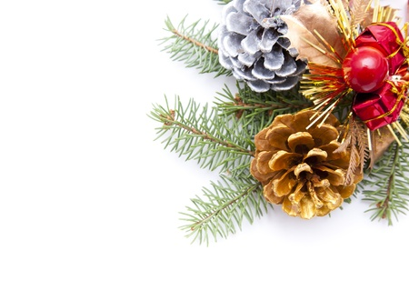 christian festival: Pine cone border Stock Photo