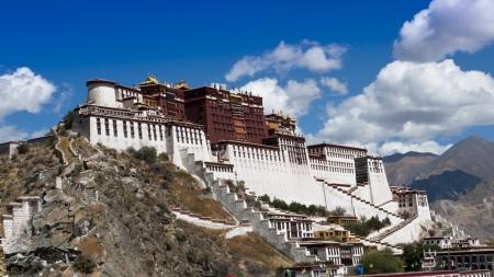 ダライ ・ ラマが生活し働くポタラ宮チベット ランドマーク 写真素材