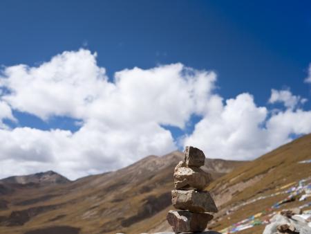 paz interior: El budismo equilibrio Foto de archivo