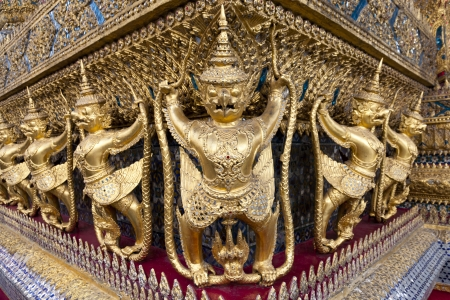 Golden Garudas at Grand Palace, Bangkok, Thailand photo