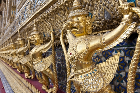 Golden Garudas at Grand Palace, Bangkok, Thailand Stock Photo - 17411983