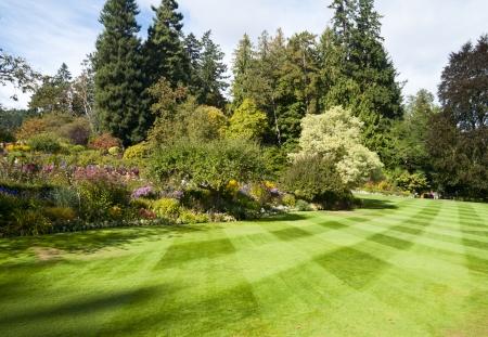 the yards: Butchart Gardens en Victoria BC, Canad� Foto de archivo