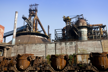 old factory: Abandoned steel mill  Stock Photo