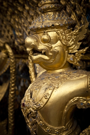Golden Garudas at Grand Palace, Bangkok  photo