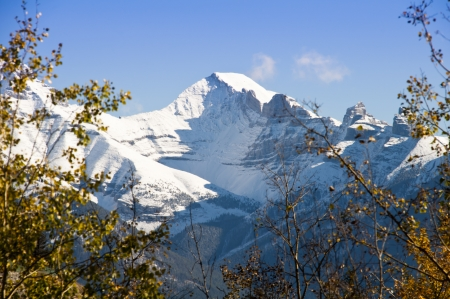 wilderness area: Majestic peaks of the Candian Rockies in Banff National Park Stock Photo