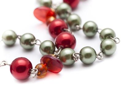 bead jewelry: necklace Stock Photo