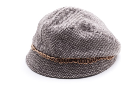 b3fb9ddca8b A Gray Beanie Isolated On White Background. Stock Photo