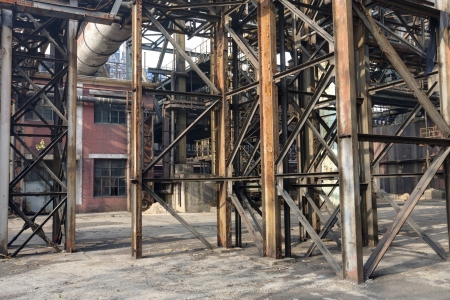 abandoned factory: old steel mill Stock Photo
