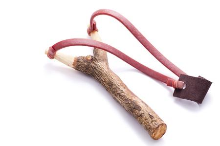 rubber bands: slingshot isolated on white background Stock Photo