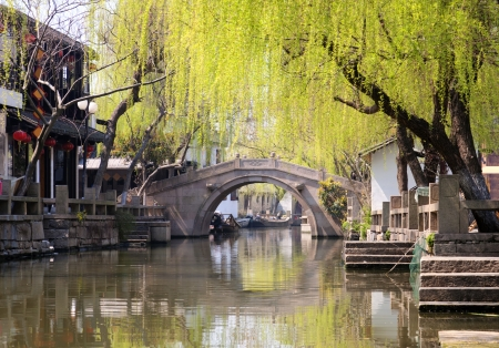 Famous water town Zhouzhuang, China photo