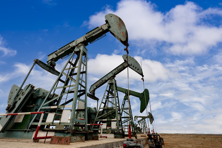 jacks: oil pump jacks Stock Photo
