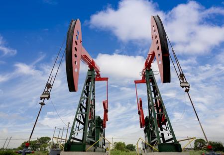 jacks: oil pump Stock Photo