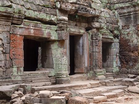 Angkor Wat, Ta Prohm Khmer temple, Cambodia 免版税图像