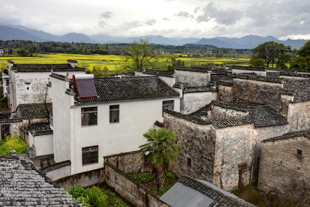 Rural landscape in Anhui province, China.