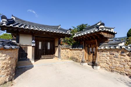 folk village: Traditional Korean House , Andong, South Korea