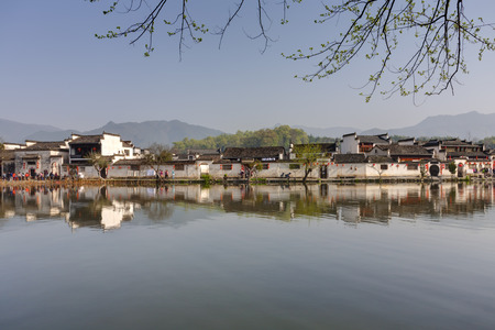Ancient Chinese village in south China 免版税图像