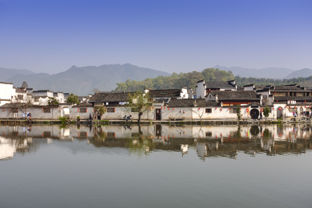 riverside county: Ancient Chinese village in south China, hongcun
