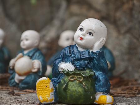 Little monk figurines