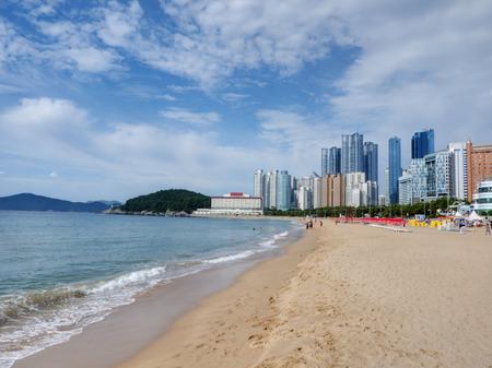 釜山海雲台ビーチ 写真素材