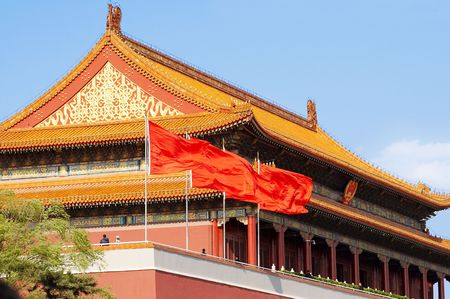 Beijing tiananmen,one of the most famous architecture in china.long history, the main entrance to the Imperial City. 新闻类图片