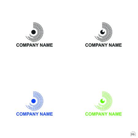Eye data icons or logo designs, vector illustration Ilustração