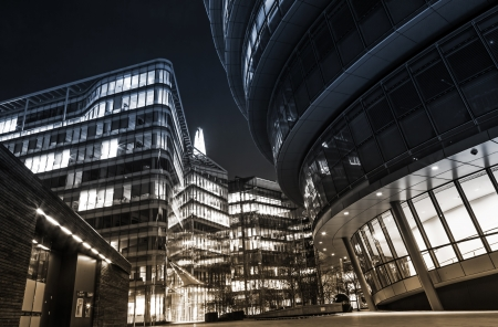 high contrast: cityscape around London City Hall Stock Photo