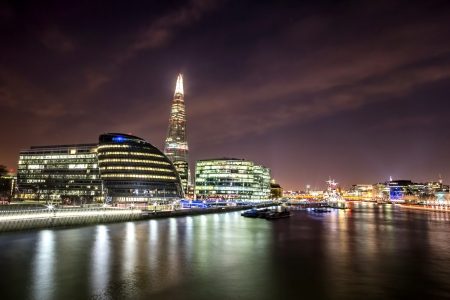 shard of glass: cityscape around London City Hall Stock Photo